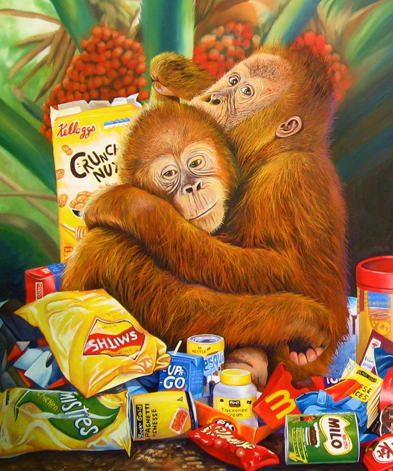Jo Frederiks - (Detail from) Palm Oil and Pollution